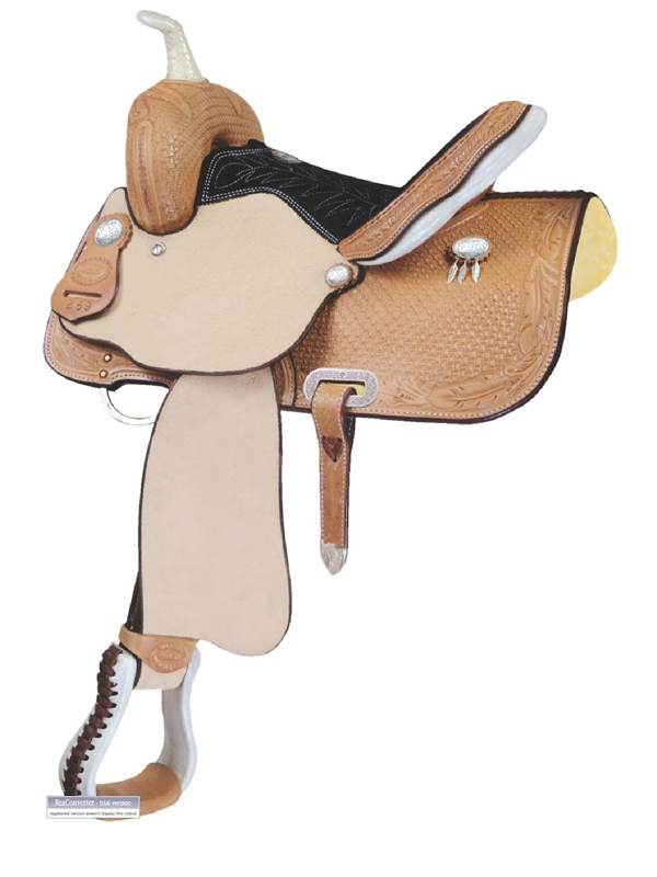 13inch Billy Cook Feather Junior Barrel Saddle 291269
