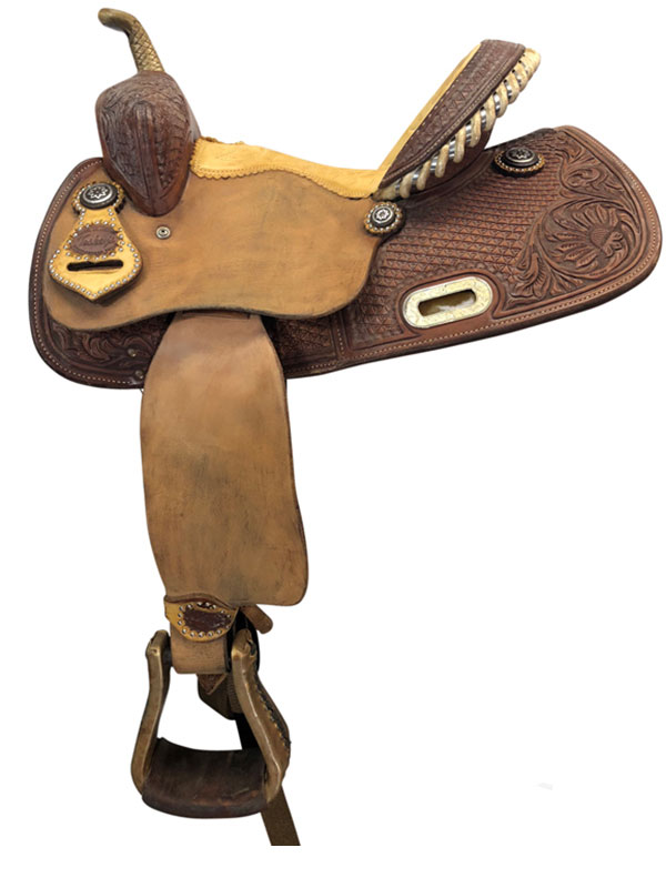 13inch Used Teskeys Barrel Collection Wide Barrel Saddle