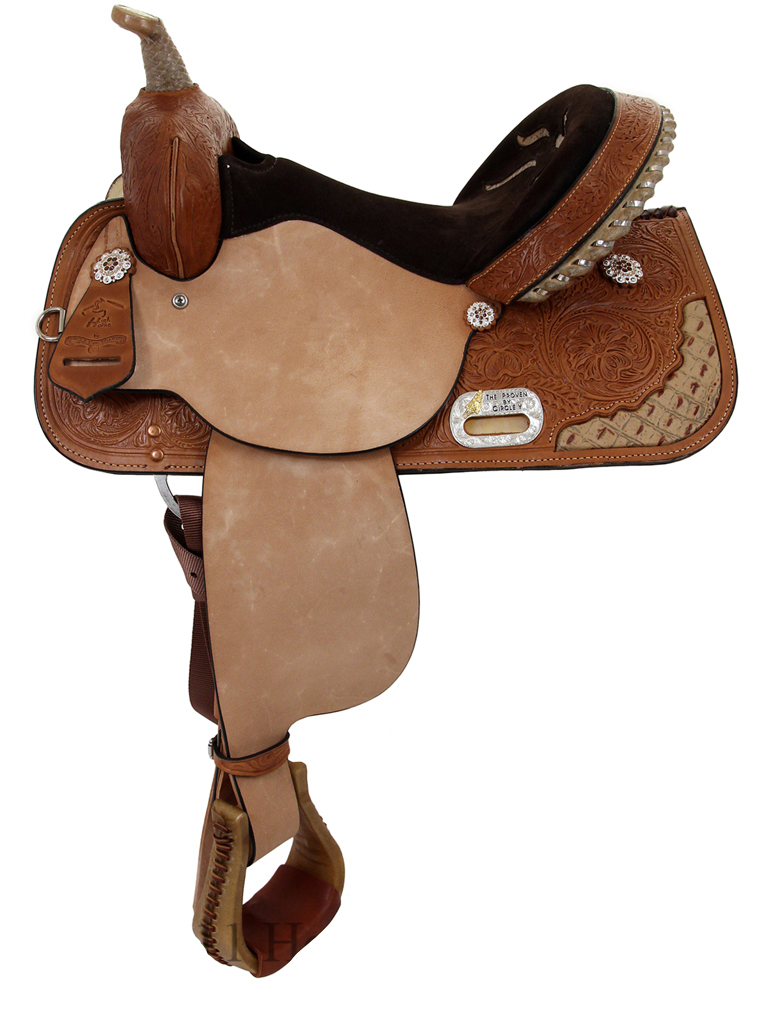 13inch to 17inch Circle Y Proven Aurora Barrel Saddle 6215
