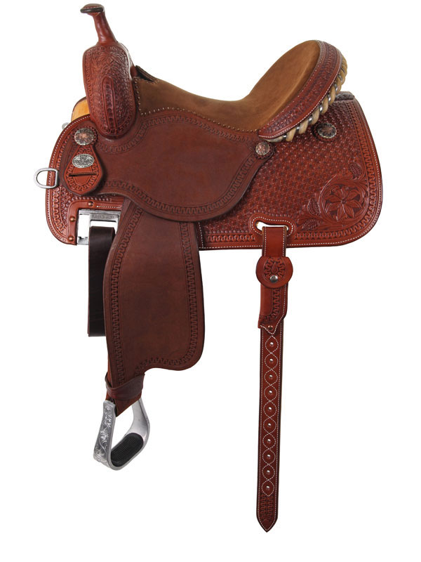 14.5inch Martin Saddlery Sherry Cervi Crown C Custom Barrel Racer 97-C2