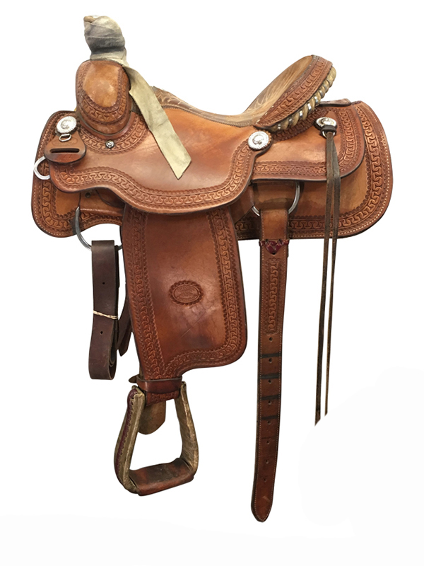 14.5inch Used Billy Cook Roper Saddle Arena Roper 2144 usbi4200