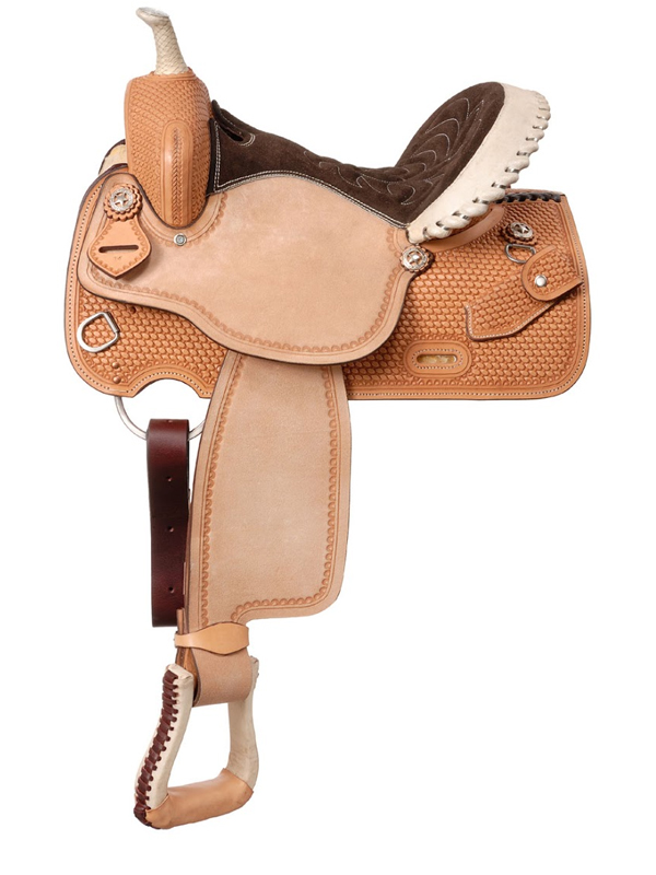 14.5inch to 15.5inch Silver Royal Cimarron Barrel Saddle 261