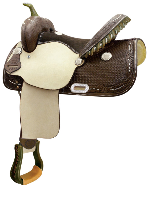 14inch 15inch Billy Cook Spotted Feather Barrel Saddle 291265