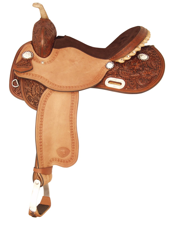 14inch 15inch Tex Tan Turn N Burn Barrel Saddle 292201