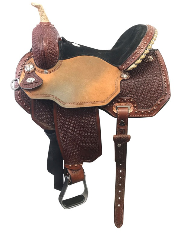 14inch Circle Y Ambition Wide Flex2 Barrel Saddle 1550_ Floor Model