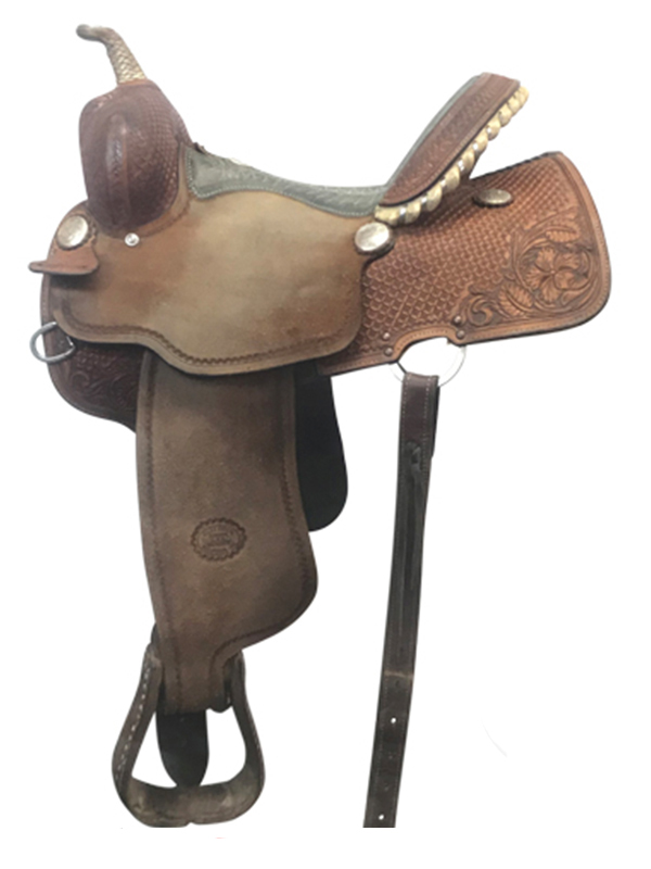 14inch Used Billy Cook Wide Barrel Saddle 1415
