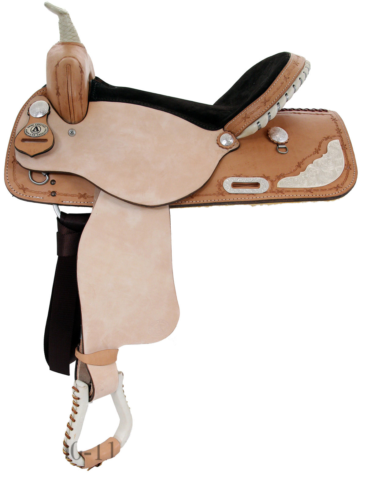 14inch to 16inch American Saddlery Silver Racer Barrel Saddle 717