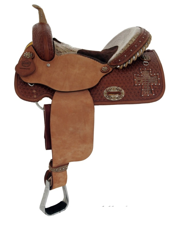 14inch_ 15inch Alamo Gator Cross Cutout Barrel Racer