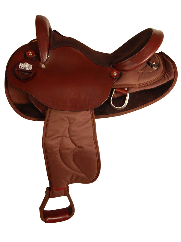 15.5inch 16.5inch Big Horn Cordura Nylon/Leather Endurance Saddle 2936
