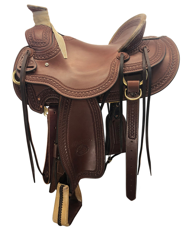 15.5inch Used Billy Cook Wide Ranch Saddle Arbuckle Wade 2182