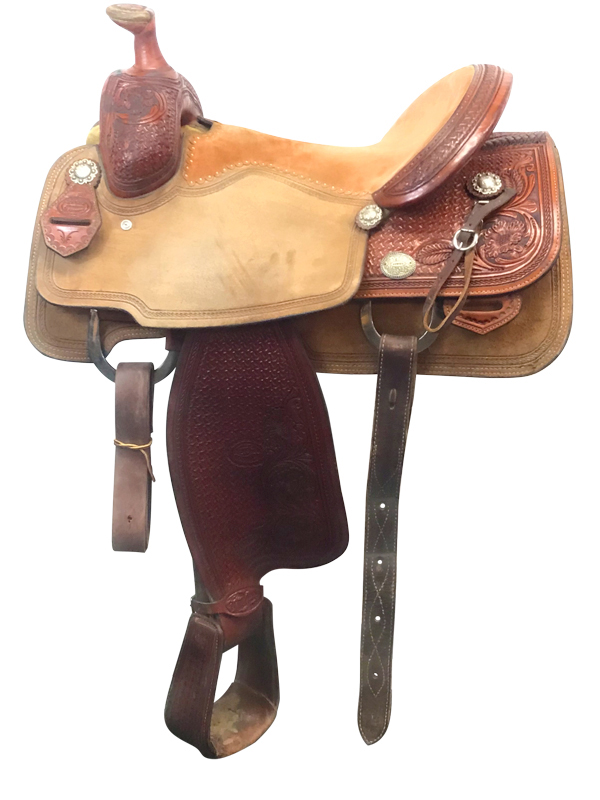 15.5inch Used Reinsman Tyler Magnus Wide Roping Saddle