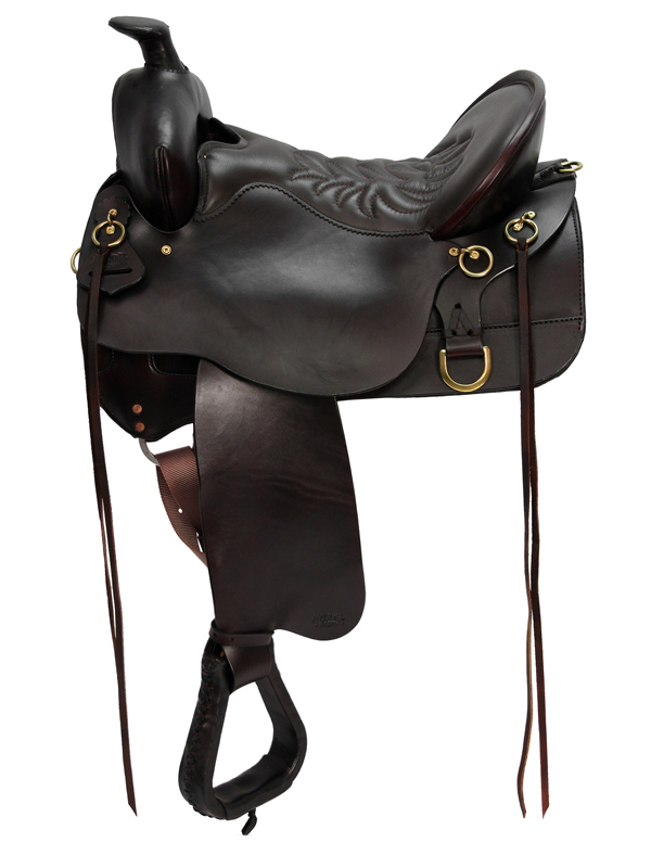 15.5inch_ 16.5inch High Plains Tucker Trail Saddle 260