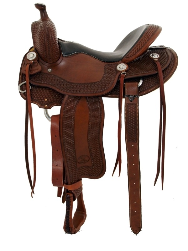 15.5inch_ 16inch Billy Cook Tipton Trail Saddle 1737