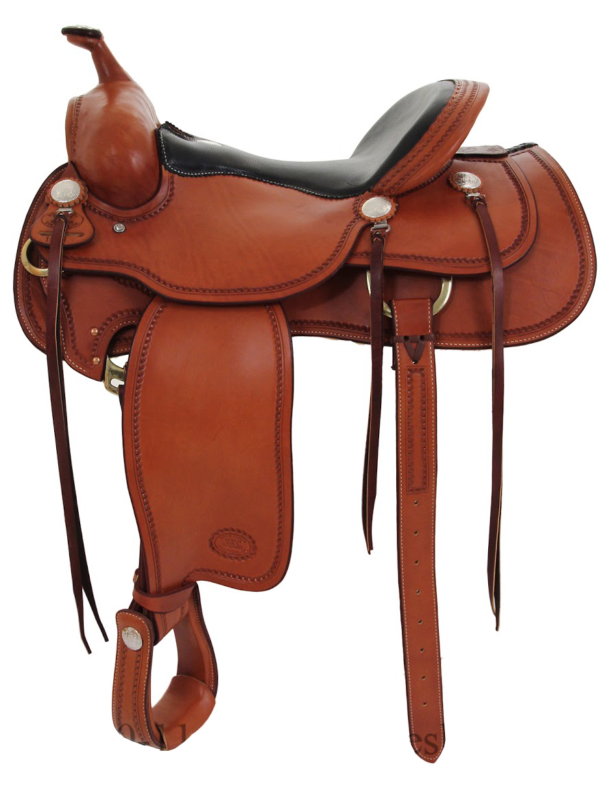 15.5inch_ 16inch Billy Cook Western Trail Saddle 1783