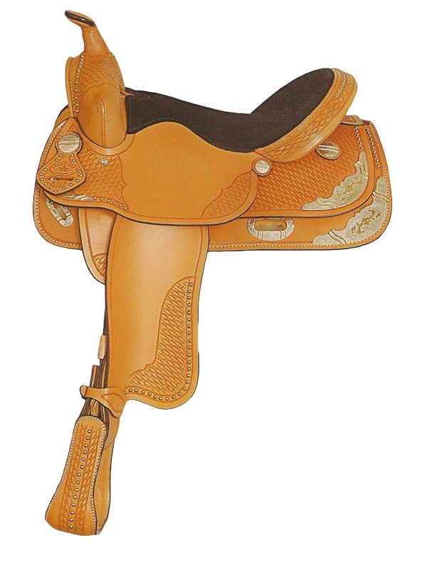 15inch 16inch Big Horn Texas Best Spotted Show Saddle 1360