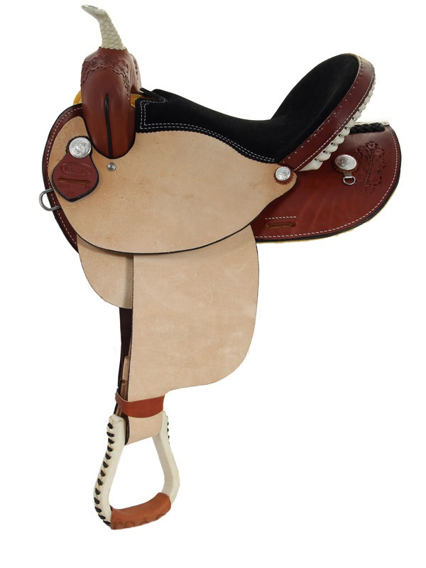 15inch 16inch Dakota Oak Leaf Barrel Racing Saddle 300