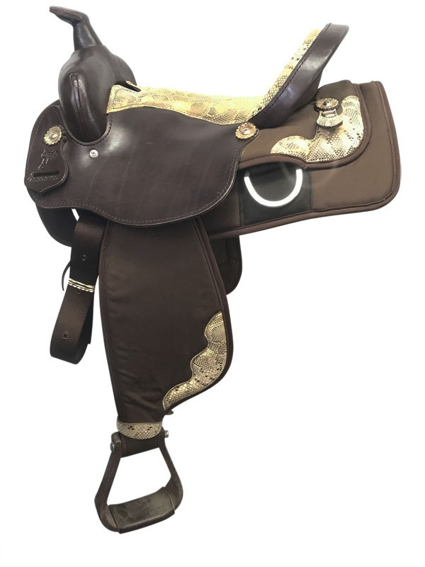 15inch Nash Leather Wide Polyride Cordura Trail Saddle 75909_ Floor Model