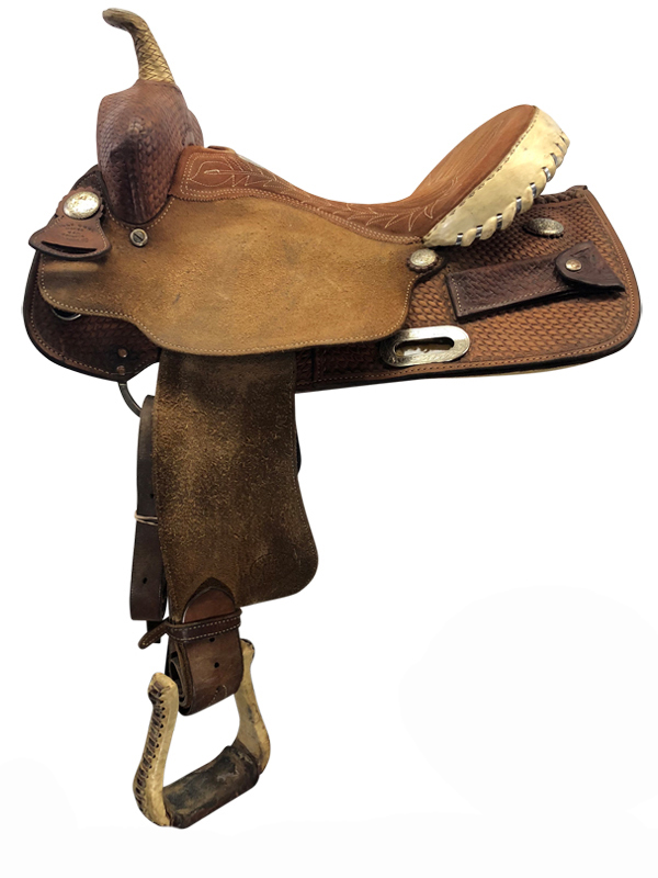 15inch Used Billy Cook Wide Barrel Saddle 1527
