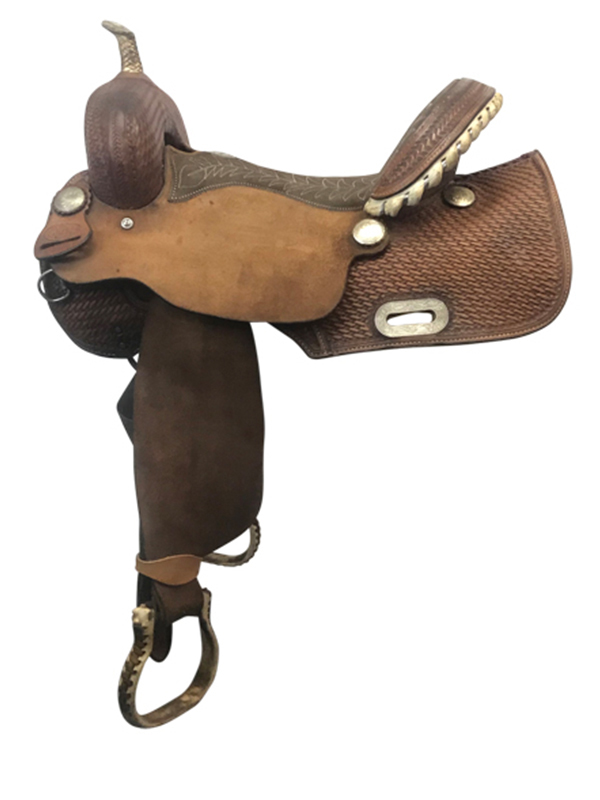 15inch Used Billy Cook Wide Barrel Saddle 1901