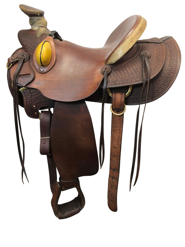 15inch Used Billy Cook Wide Wade Ranch Saddle 2189