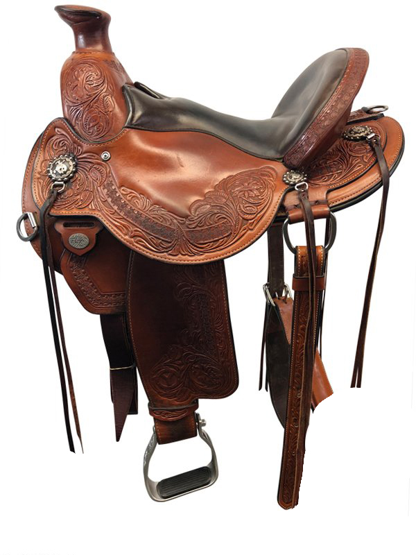 15inch Used Circle Y Wide Flex2 Trail Saddle Walnut Grove 1157