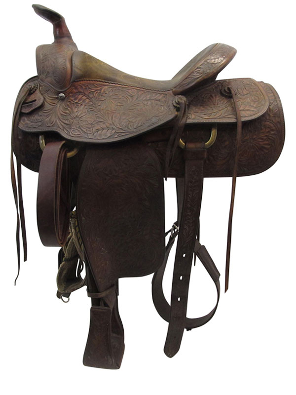 15inch Used Shoup Wide Roping Saddle 7652
