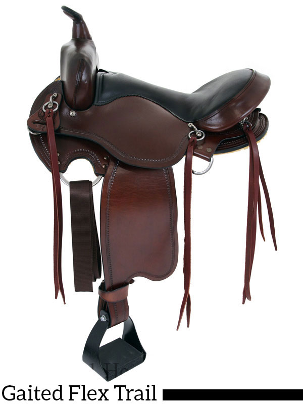 15inch to 17inch Big Horn Custom Gaited Light Flex Tree Trail Saddle 815