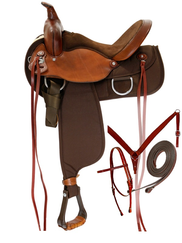 15inch to 17inch Fabtron Lady Flex Trail Saddle 7152p 7154p Package