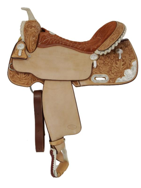 15inch_ 16inch Billy Cook Silver Show Barrel Saddle 2001