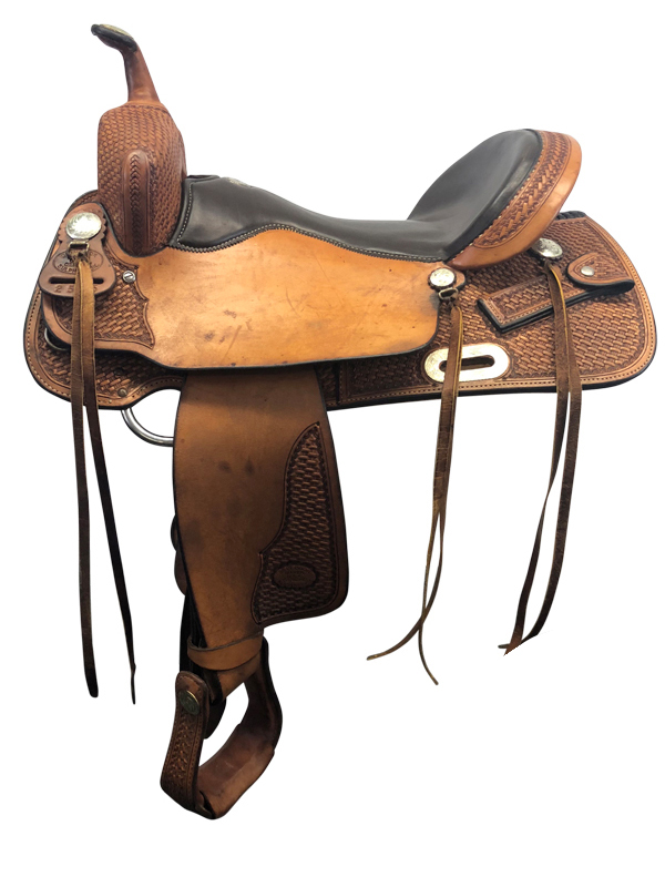 16.5inch Used Billy Cook Wide Trail Saddle 2536