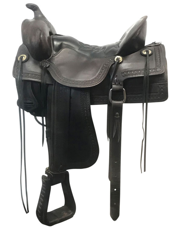 16.5inch Used Tucker Medium Trail Saddle 277 Old West