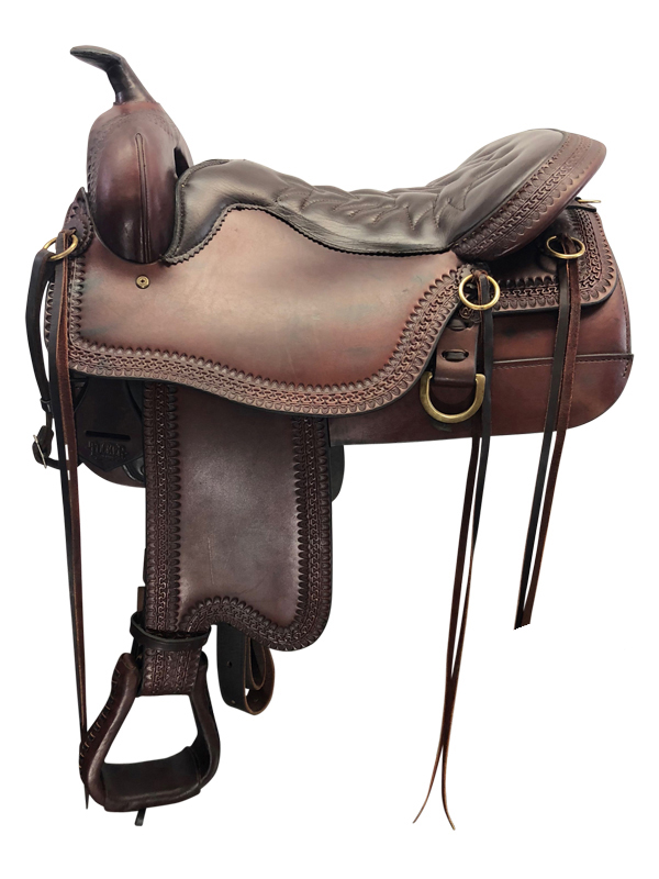 16.5inch Used Tucker Medium Trail Saddle Cheyenne 166