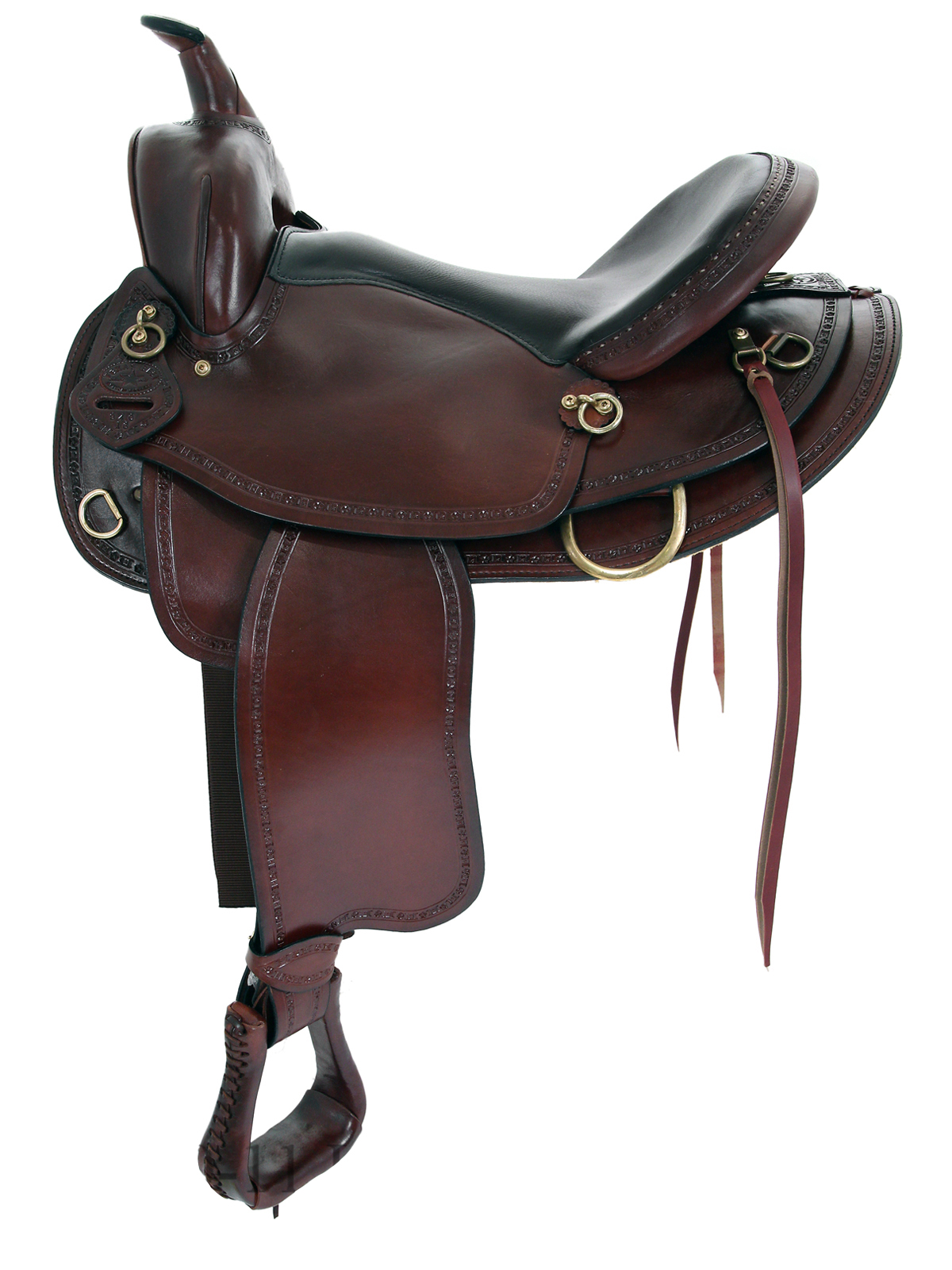 16inch 17inch Big Horn Texas Best Hill Country Trail II Saddle