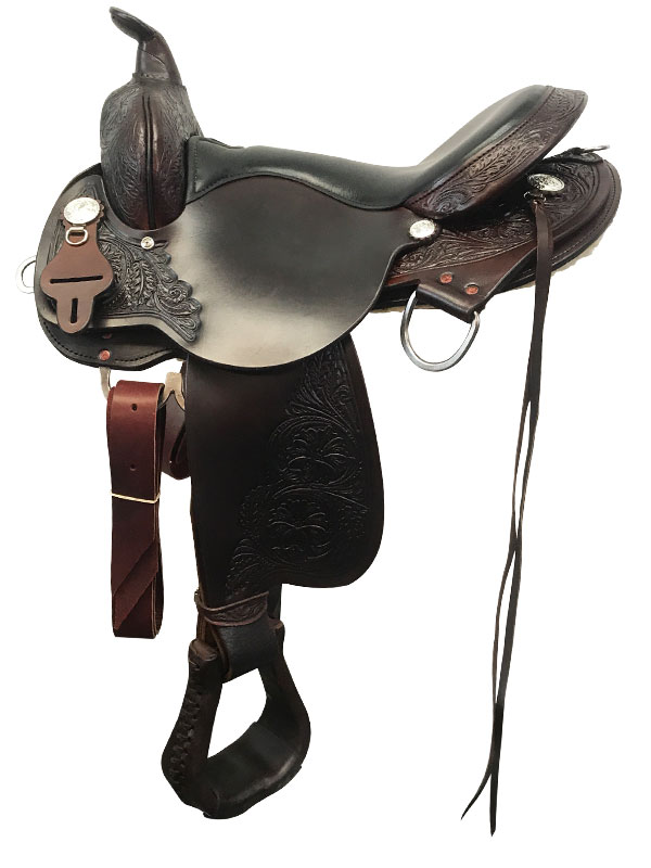 16inch 17inch Circle Y High Horse Round Rock Gaited Saddle 6870