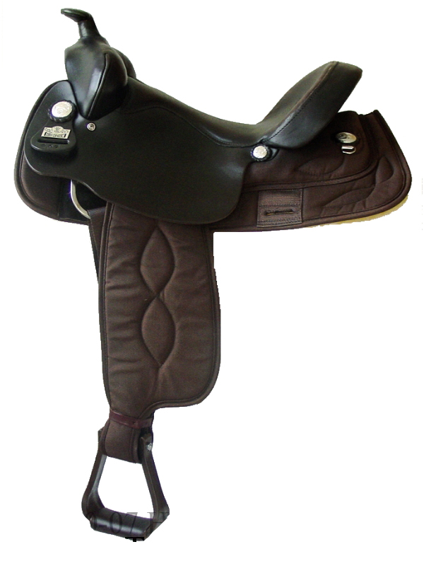 16inch Big Horn Brown Cordura Gaited Horse Saddle High Withers 257