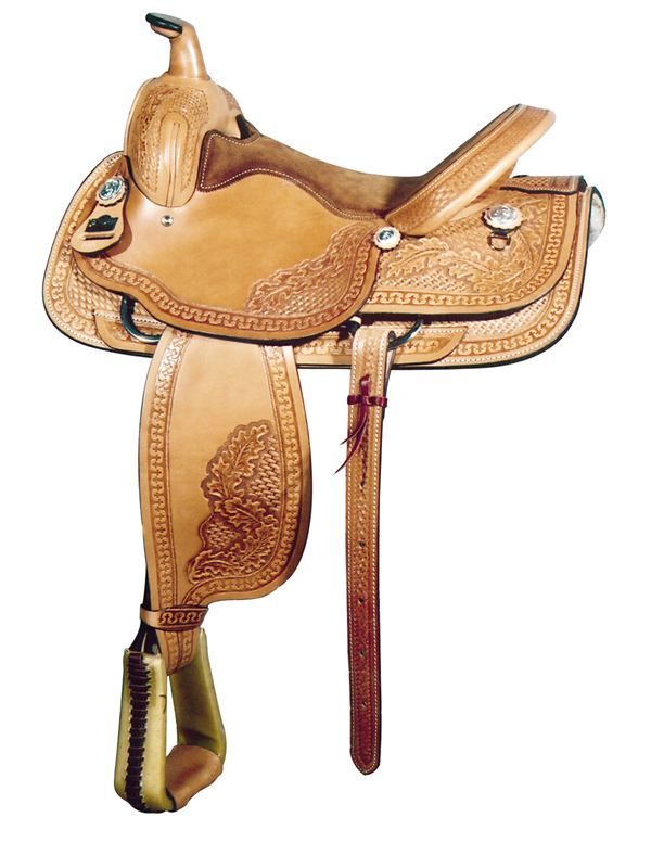 16inch Big Horn Floral Tooled Roping Saddle 880