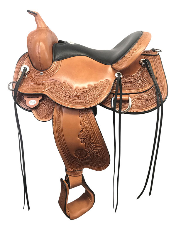 16inch Circle Y Julie Goodnight Monarch Wide Flex2 Trail Saddle 1752