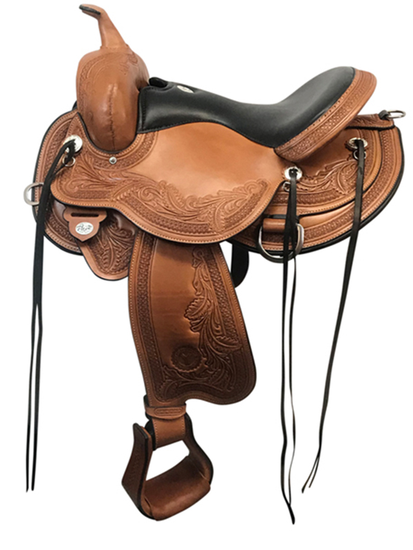 16inch Circle Y Wind River Wide Flex2 Trail Saddle 1750_ Floor Model