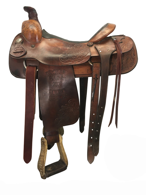 16inch Used Action Co. Medium Roper Saddle 21524 usac4190