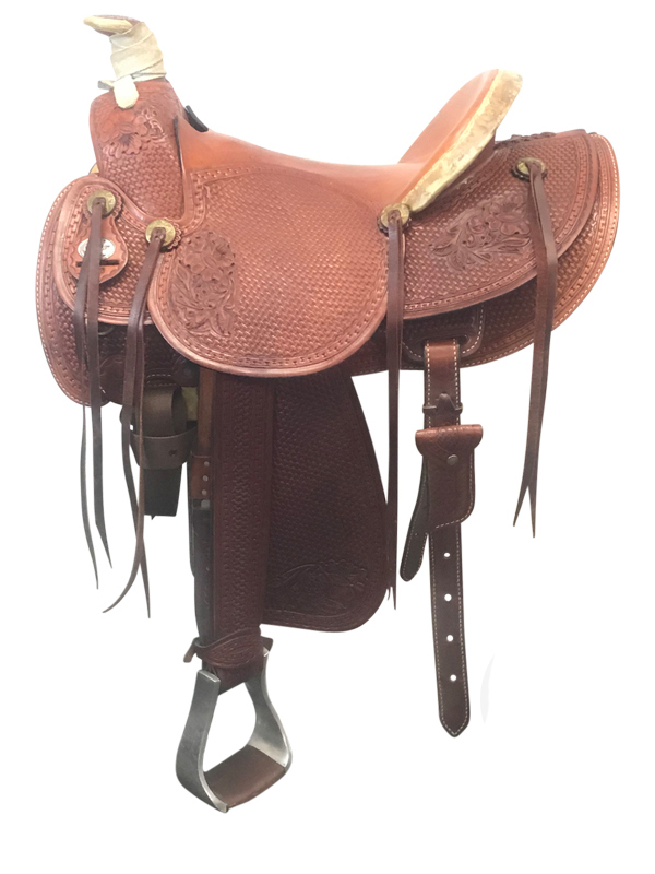 16inch Used American Saddlery Wide Ranch Saddle 128