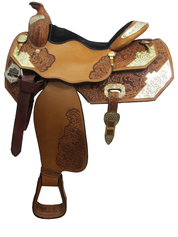 16inch Used Big Horn Show Saddle_ Wide Tree 1892
