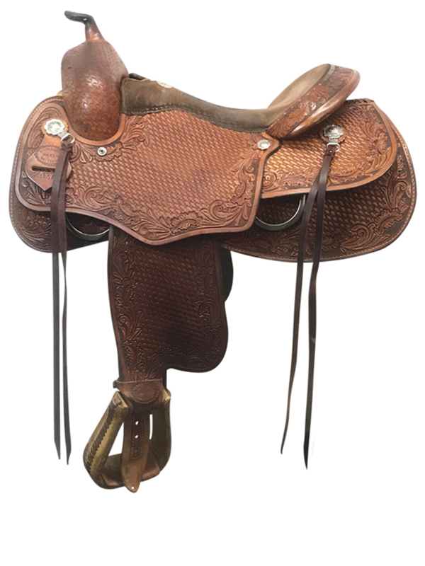 16inch Used Saddle Smith Todd Bergen Wide Reiner Saddle Armor Tex 'Pro Reiner'