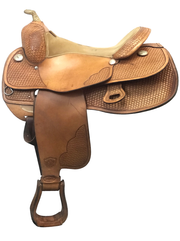 16inch Used Tex Tan Wide Equi-Tex Flex Reining Saddle 08-1270-1