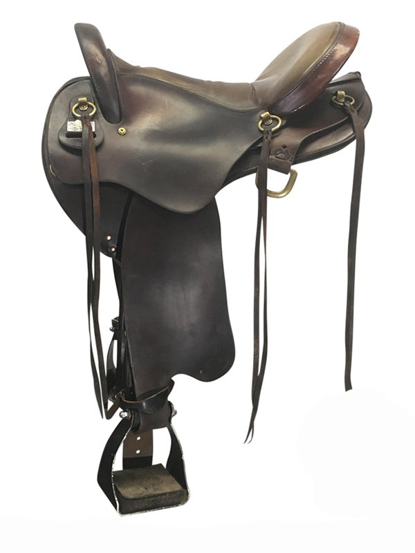 17.5inch Used Big Horn Medium Flex Endurance Saddle 806 usbh4187