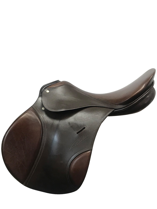 17.5inch Used Havana Passier Comet FS Medium Wide English Saddle
