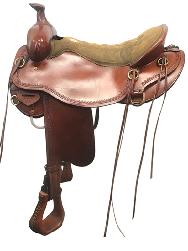 17.5inch Used Tucker Competitive Wide Trail Saddle 550