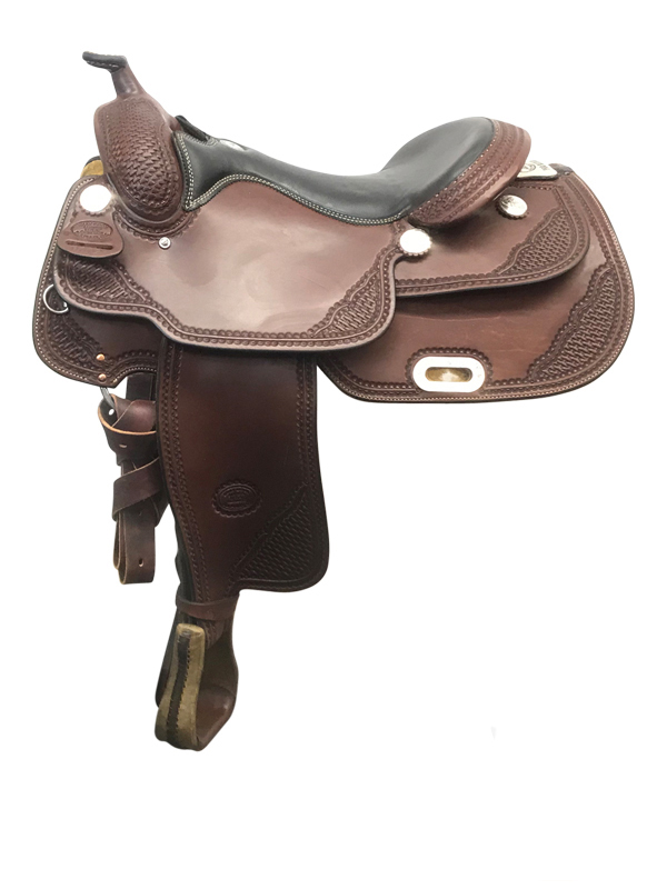 17inch Used Billy Cook Wide Reiner Saddle 9602