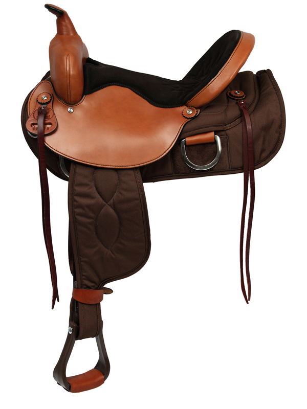 Big Horn Ladies Light Weight Flex Trail Saddle_ Wide Tree