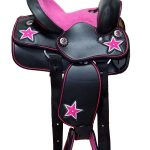 Children's-Pink-Beaded-Star-Synthetic-Western-Saddles