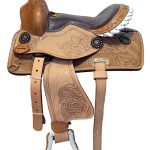 Horse-Youth-Pony-Leather-Western-Saddles-Gator-Print